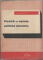 Leont'jev: Předmět a metoda politické ekonomie, 1950