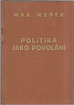 Weber: Politika jako povolání, 1929