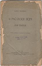 Niederle: O počátcích dějin zemí českých, 1900