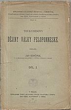 Thúkydidés: Thukydidovy Dějiny války Peloponneské. I-III, 1906