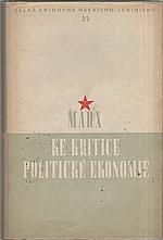 Marx: Ke kritice politické ekonomie, 1953