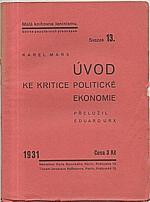 Marx: Úvod ke kritice politické ekonomie, 1931