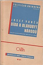 Vaněk: Bída a blahobyt národů, 1935