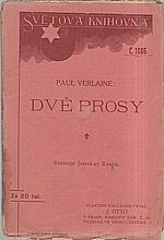 Verlaine: Dvě prosy, 1913